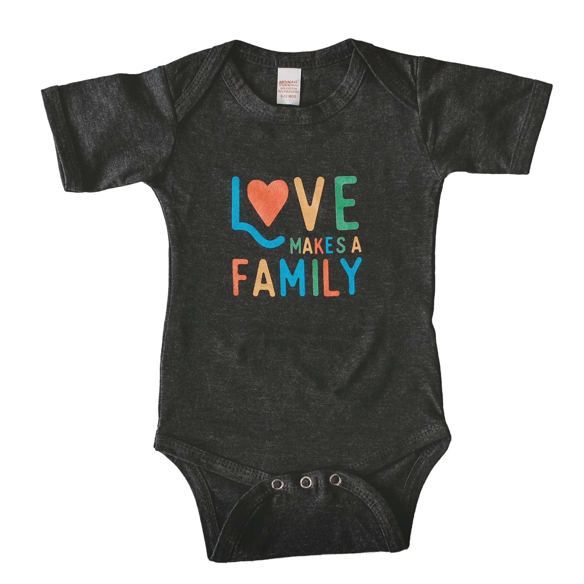 Love Makes a Family baby bodysuit / onesie