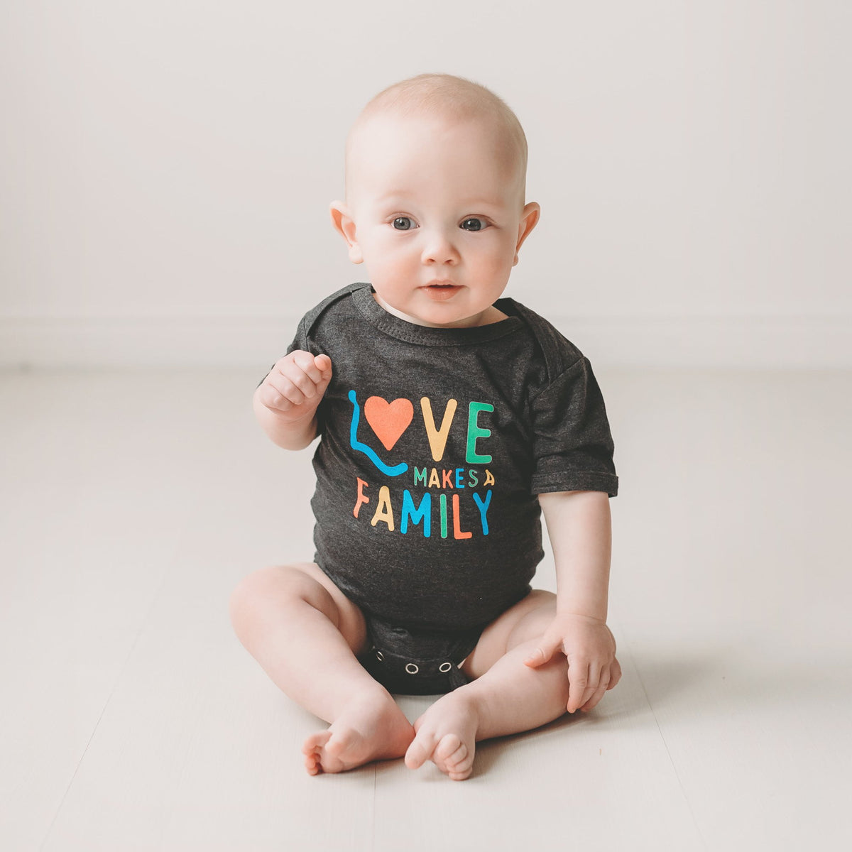 Love Makes a Family baby bodysuit / onesie - Sweetpea and Co.