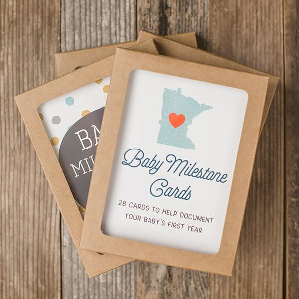 Minnesota Baby Photo Milestone Cards - Wholesale - Sweetpea and Co.