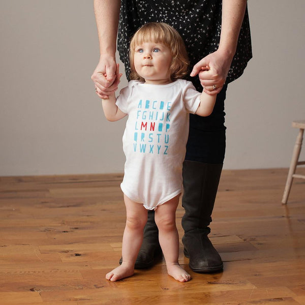 Organic Minnesota Alphabet Bodysuit - Sweetpea and Co. - 1
