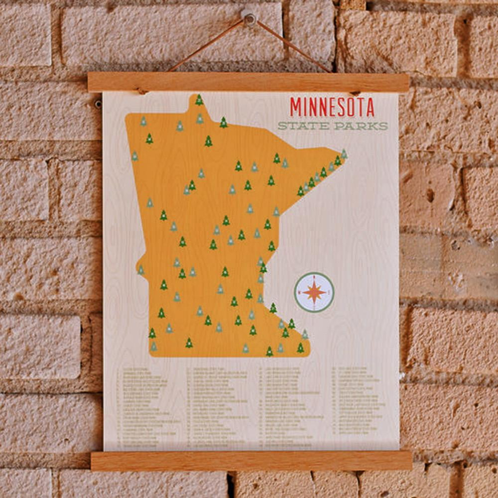 Minnesota State Parks Map Art Print  - wholesale - Sweetpea and Co.