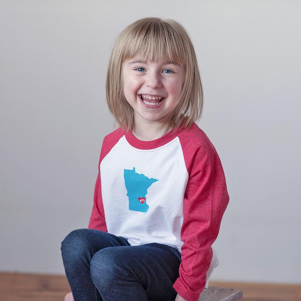 MN Nice Raglan Tee - wholesale - Sweetpea and Co.