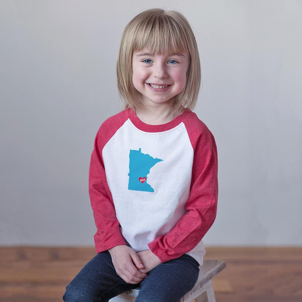 Minnesota Nice Raglan Tee - Sweetpea and Co.