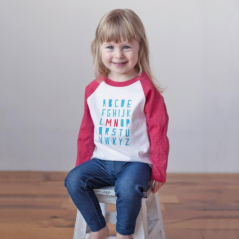Minnesota Alphabet Raglan Tee - Wholesale - Sweetpea and Co.