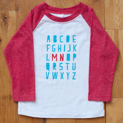 Minnesota Alphabet Raglan Tee - Sweetpea and Co.