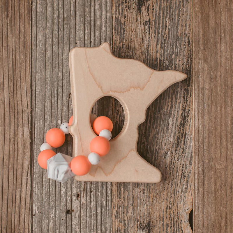 Minnesota Wood and Bead Teether - Wholesale - Sweetpea and Co.