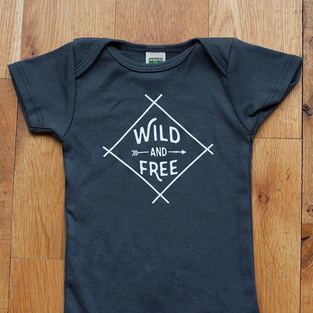 Sale - Wild and Free Bodysuit in Dark Gray – Sweetpea and Co. 705ad5deb