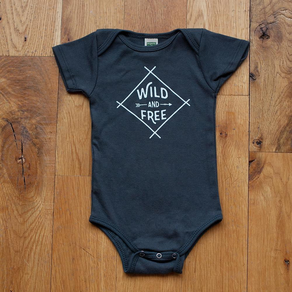 Wild and Free Bodysuit in Dark Gray - Sweetpea and Co.