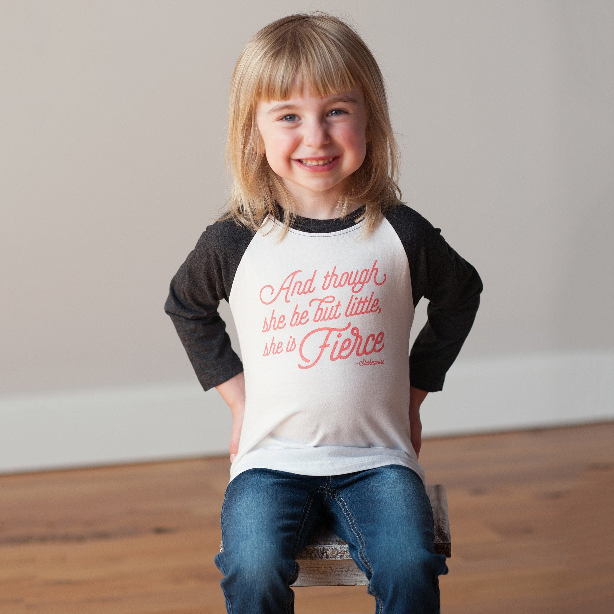 She is Fierce Raglan Tee - wholesale - Sweetpea and Co.