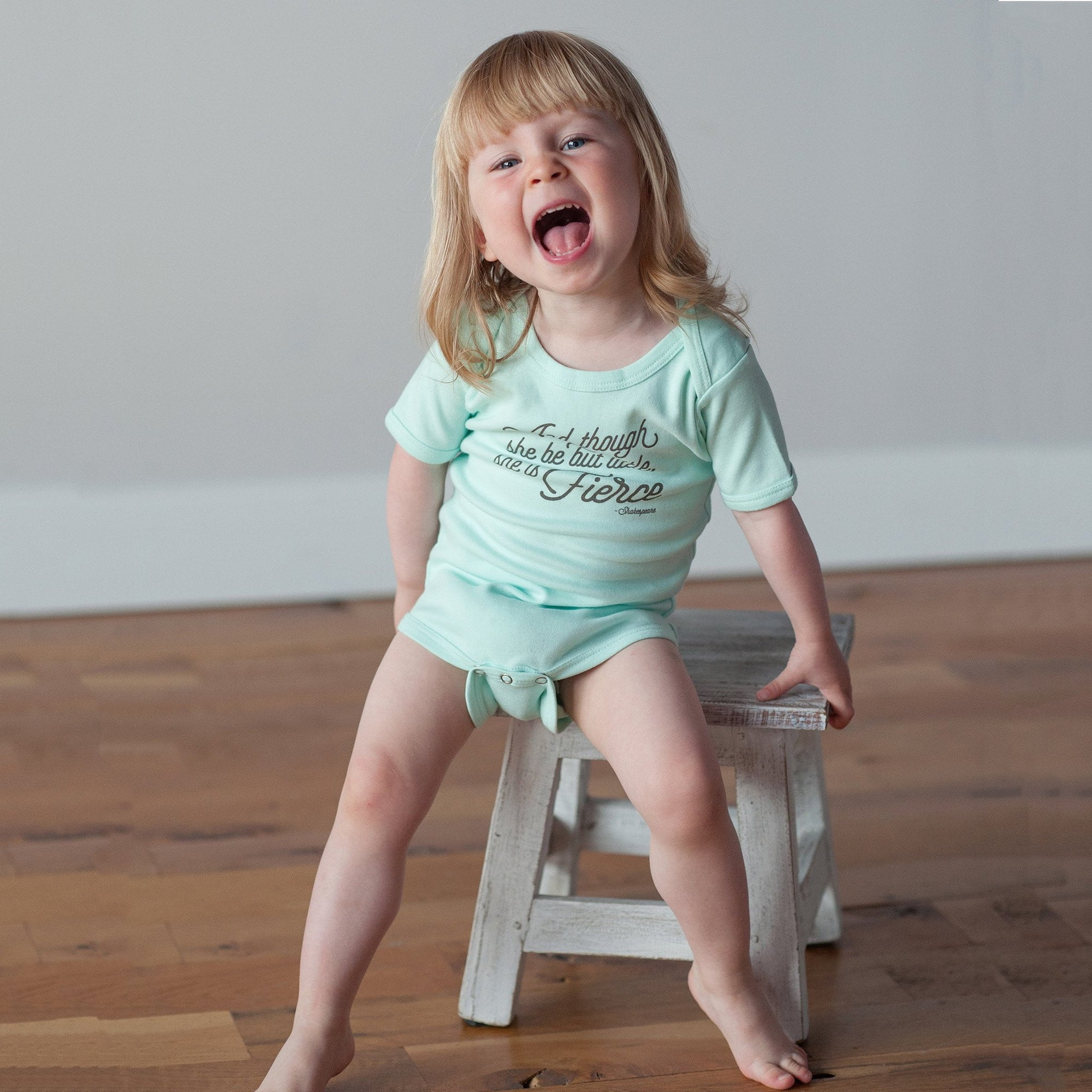 She is Fierce in Mint Bodysuit - wholesale - Sweetpea and Co.
