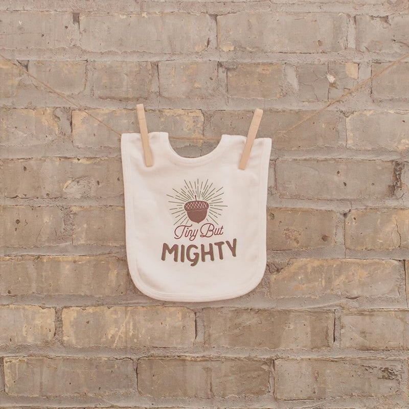 Tiny but Mighty Baby Bib - Sweetpea and Co.
