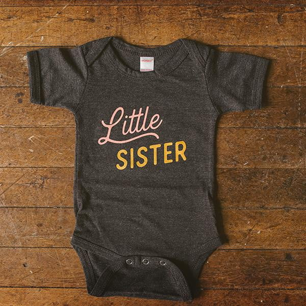 Little Sister Baby Bodysuit - wholesale - Sweetpea and Co.