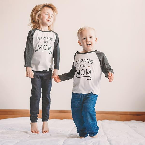Strong Like Mom Raglan Tee - Sweetpea and Co.