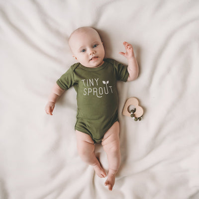 PRE-ORDER - Tiny Sprout baby bodysuit / onesie - Sweetpea and Co.