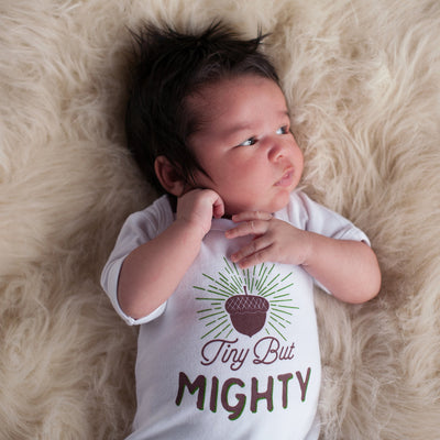 Tiny But Mighty Baby Bodysuit - Sweetpea and Co.