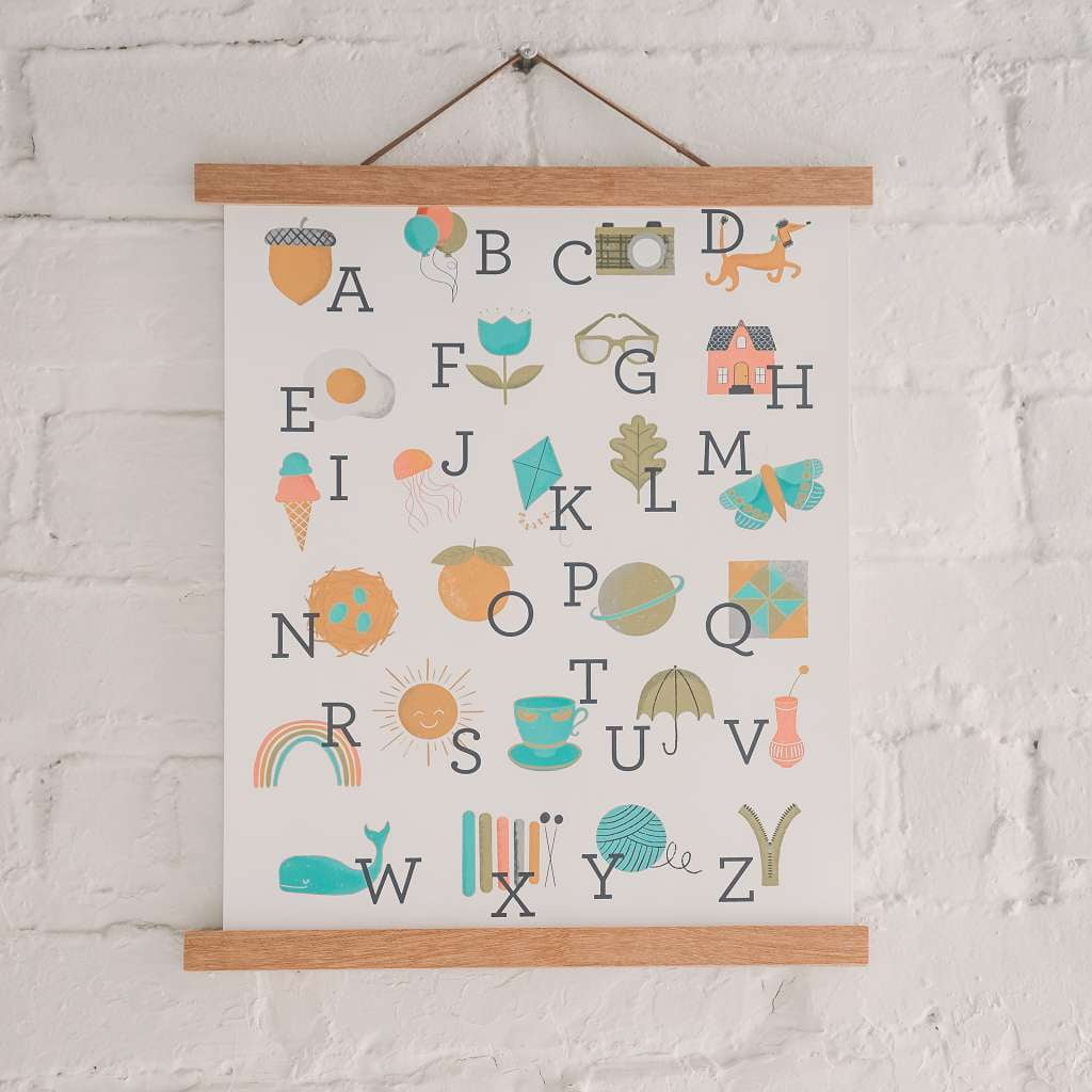 Alphabet Art Print - Sweetpea and Co.