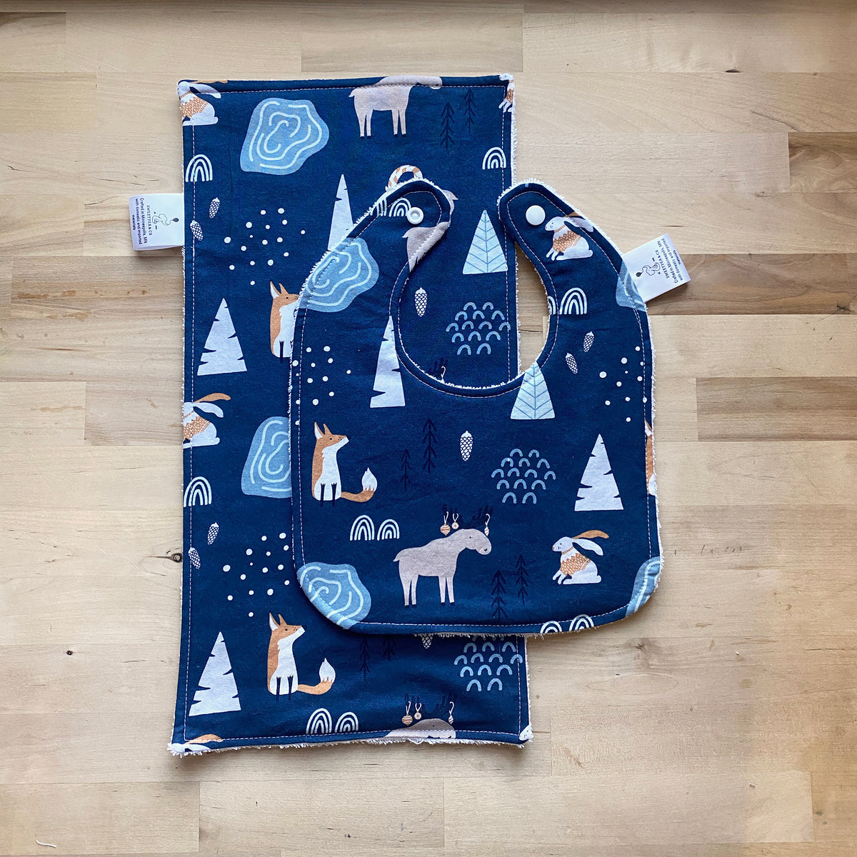 Baby Burp Cloth and Bib Gift Set