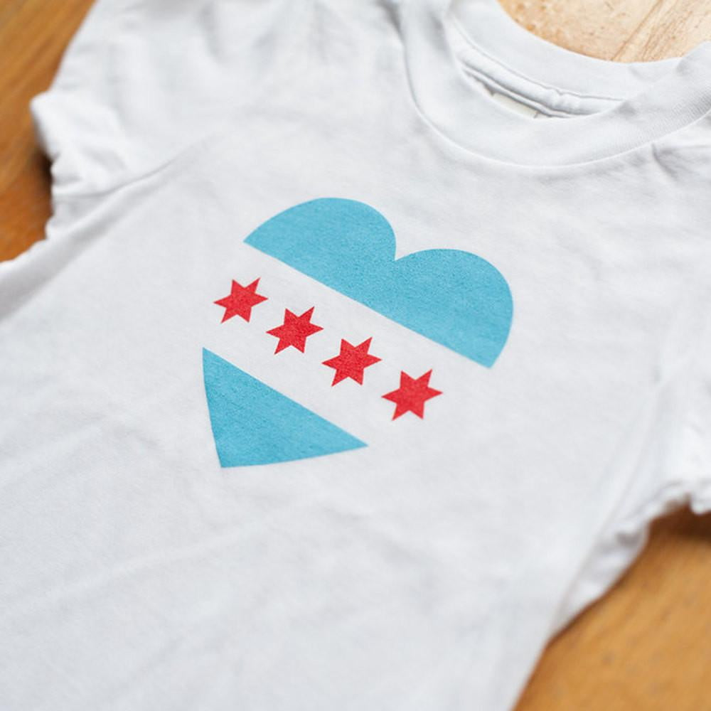 Organic Toddler Chicago Flag T-Shirt - Sweetpea and Co.