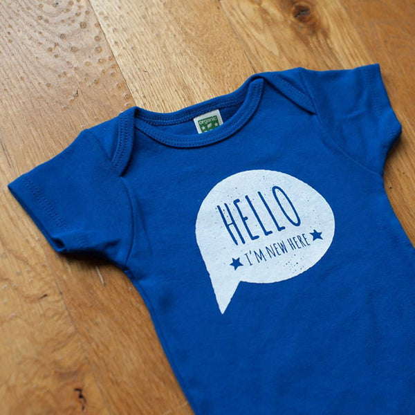 Hello, I'm New Here Organic Bodysuit - Sweetpea and Co. - 3