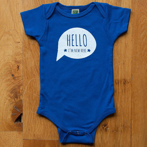 Hello, I'm New Here Organic Bodysuit - Sweetpea and Co. - 5