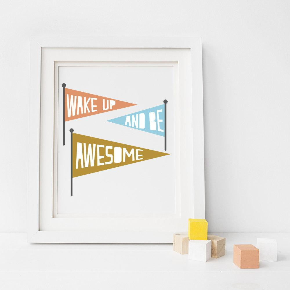 Be Awesome Art Print - Sweetpea and Co.