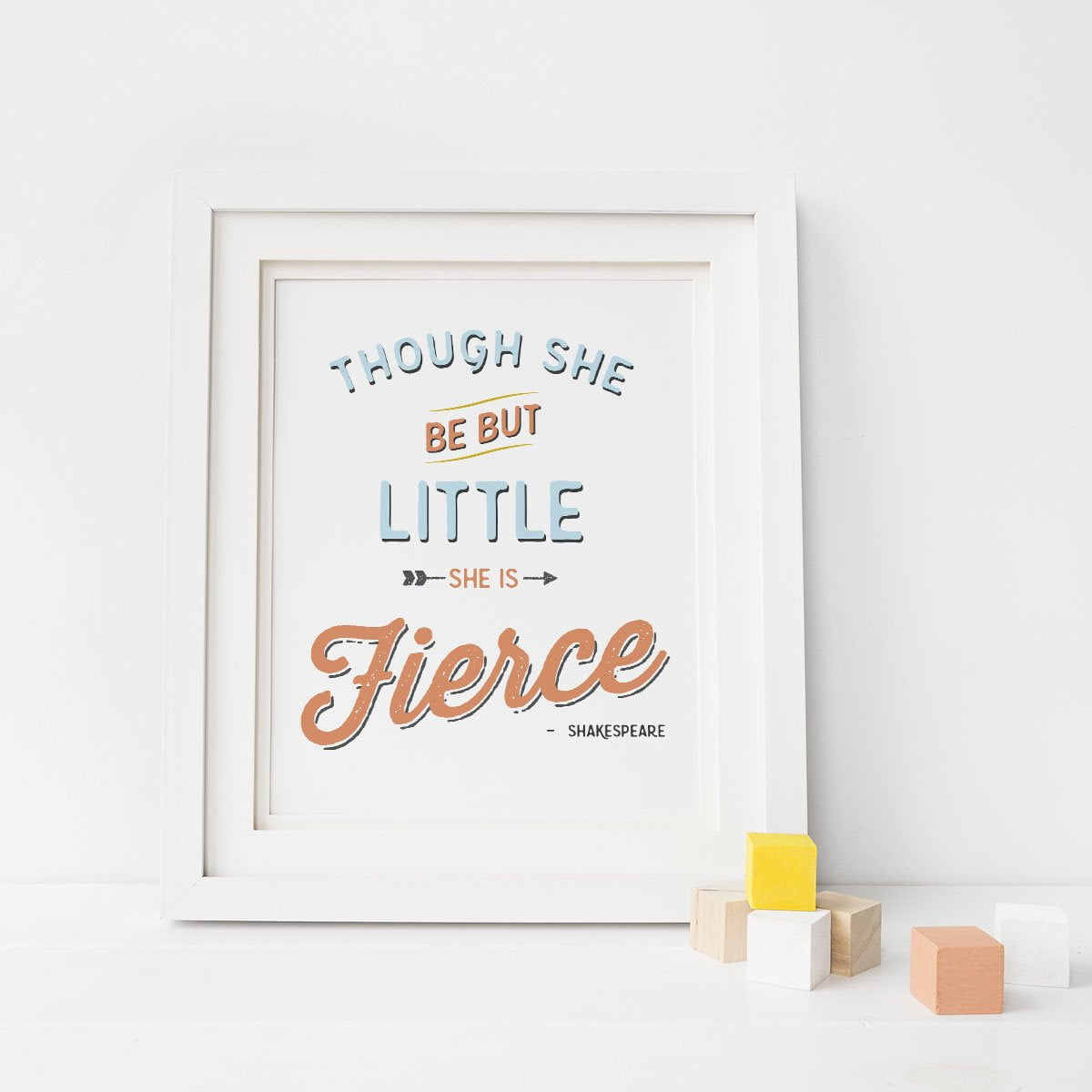 She is Fierce Print Art Print - Sweetpea and Co.