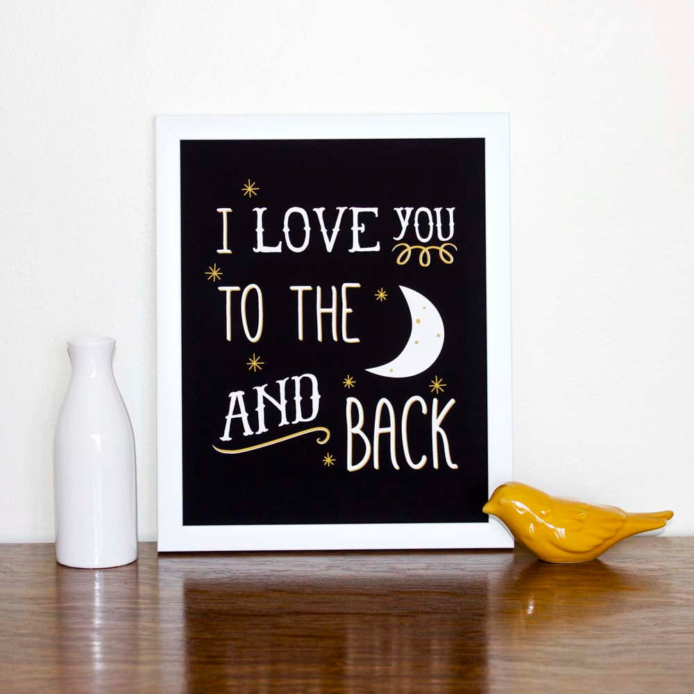 I Love You To The Moon and Back Art Print - wholesale - Sweetpea and Co.