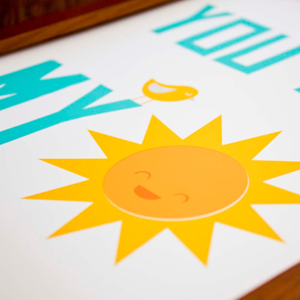 You Are My Sunshine Nursery Art Print - Sweetpea and Co.