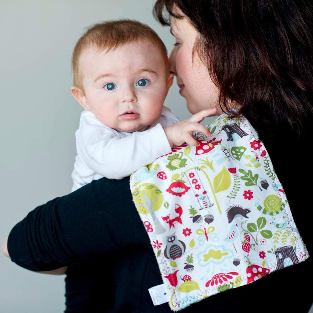 Baby Burp Cloth and Bib Gift Set - Sweetpea and Co.