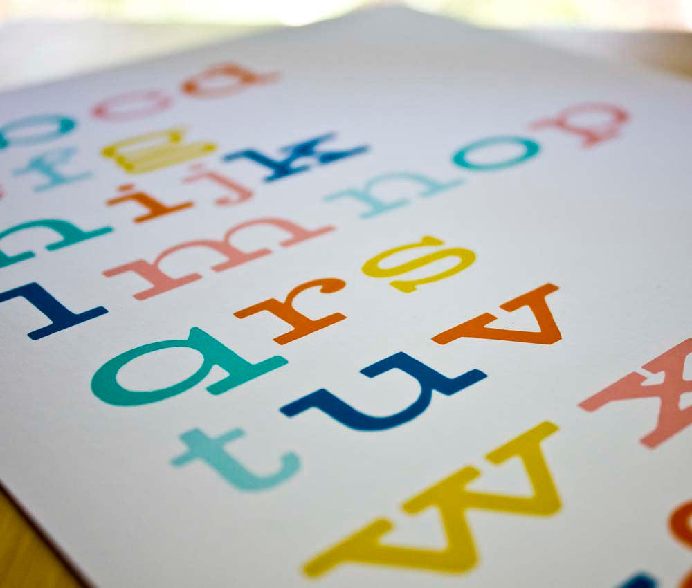 Alphabet Typography Art Print - wholesale - Sweetpea and Co.