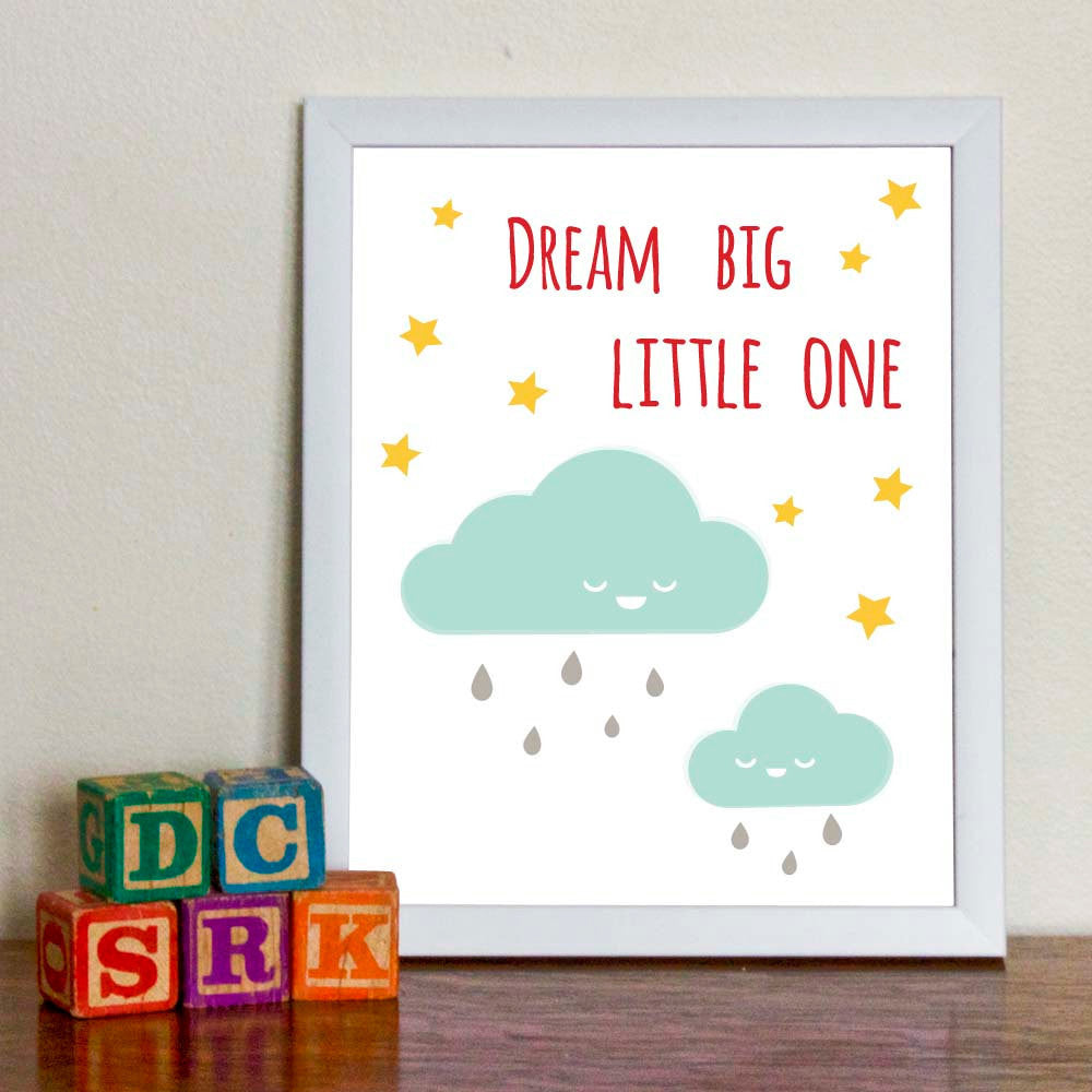 Dream Big Little One Art Print - wholesale - Sweetpea and Co.