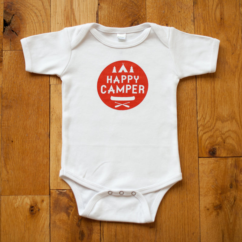 Organic Happy Camper Bodysuit - Sweetpea and Co.