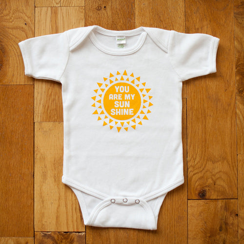 Sale - Organic You are my Sunshine Bodysuit - Sweetpea and Co.