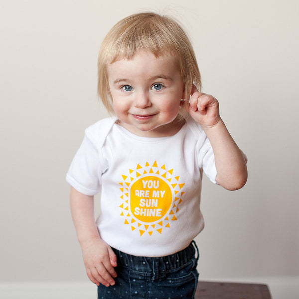 SALE Organic You are my Sunshine Bodysuit - Sweetpea and Co.