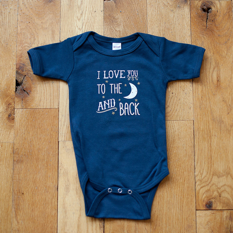 Organic I Love you to the Moon and Back Bodysuit - Sweetpea and Co.