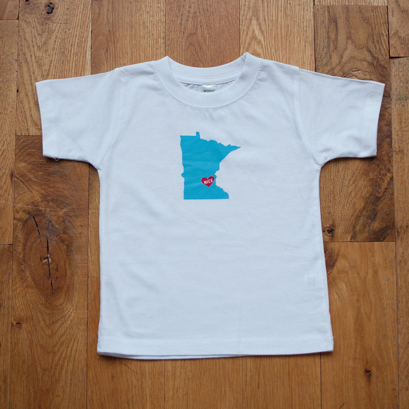 Sale - Organic Toddler T-Shirt in Minnesota Nice - Sweetpea and Co.
