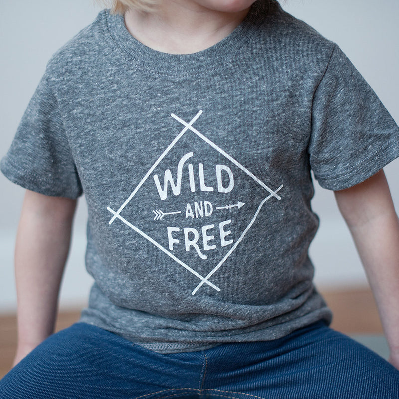 Sale - Tri-Blend Wild and Free T-Shirt - Sweetpea and Co.
