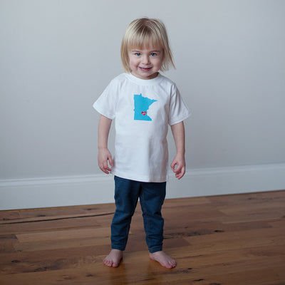 Organic Toddler T-Shirt in Minnesota Nice - Sweetpea and Co.