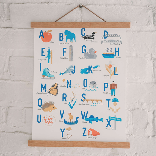 Minnesota Alphabet Art Print - Sweetpea and Co.