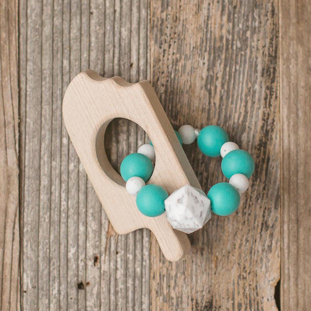 Popsicle Wood and Bead Baby Teether 1