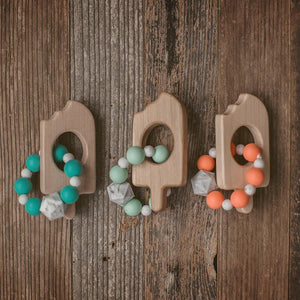 Popsicle Wood and Bead Baby Teether