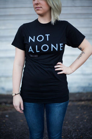 Not Alone Black Tee