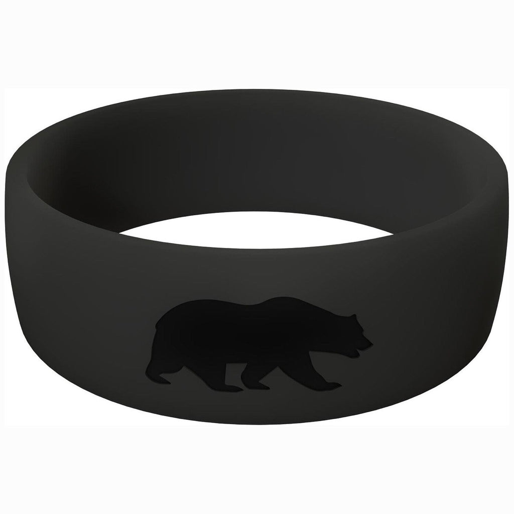 Rubber Wedding Bands | Men's Black | Grizzly Rings