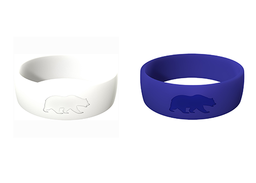 Men's Double Bundle (White & Blue) Athletic Rings