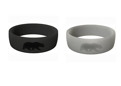Men's Double Bundle (Black & Grey) Athletic Rings