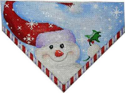 Snowman Flakes Stocking Top