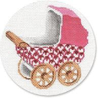 Baby carriage Pink/Gold Wheels