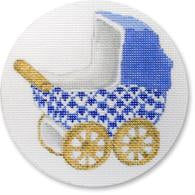 Baby Carriage Blue/Gold Wheel