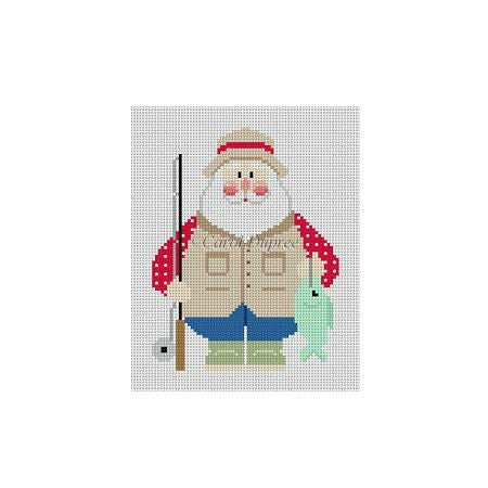 Fat Santa with Fishing Rod & Fish