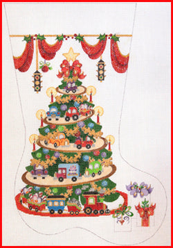 Transportation Tree with Cars & Trains